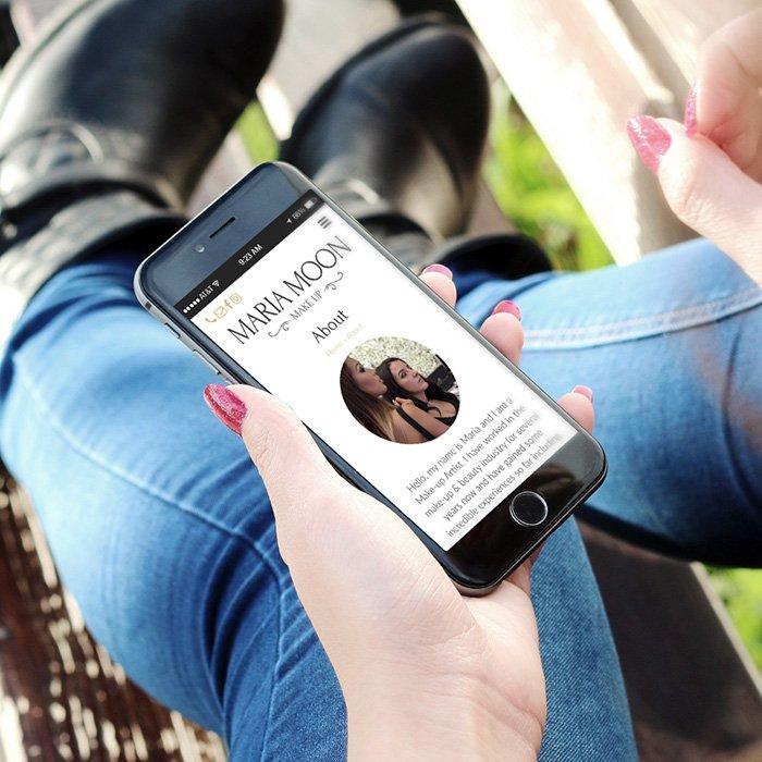 Maria Moon Makeup Marketing Website Design