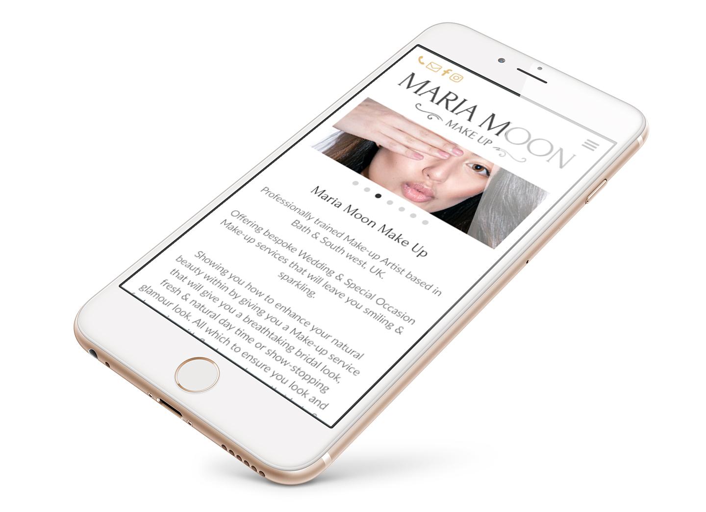 Maria Moon Makeup website design