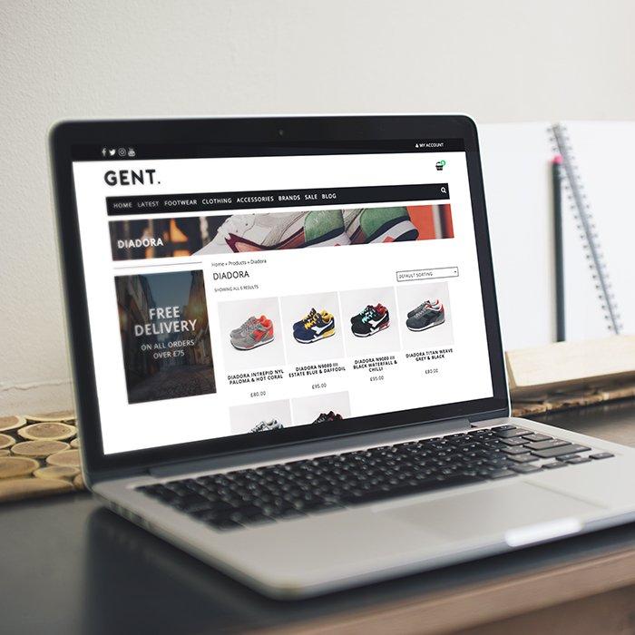 Gent Street eCommerce Website Design