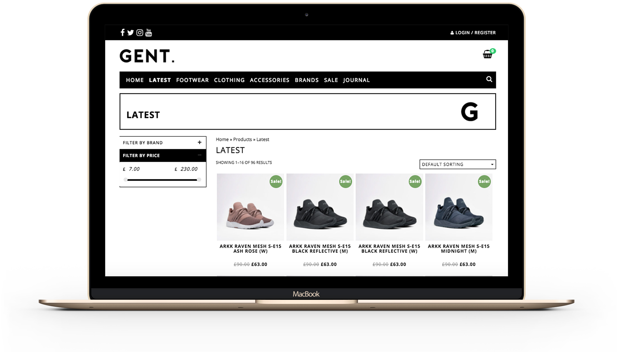 Gent Street eCommerce website