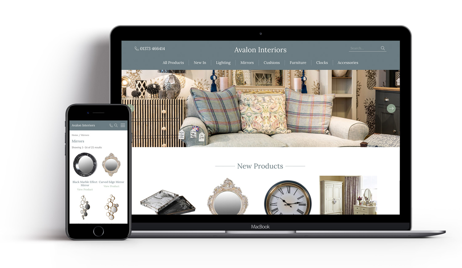 Avalon Interiors Website Design