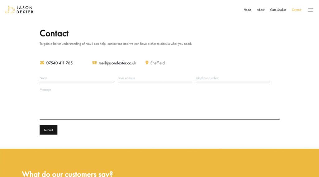 Jason Dexter website design
