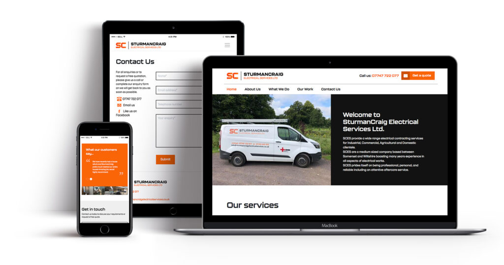 SturmanCraig Electrical Services website design