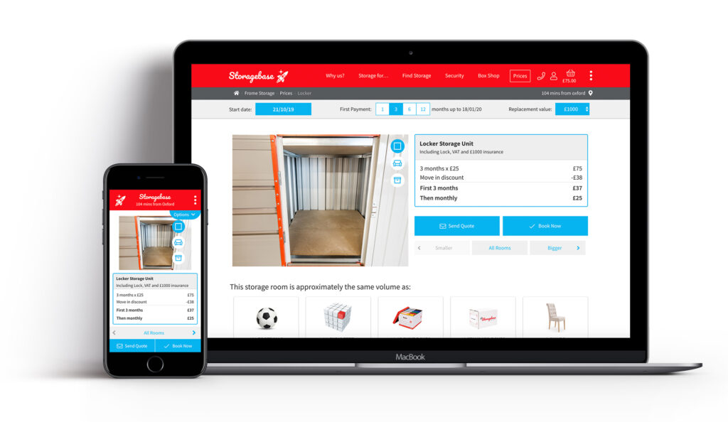 Storagebase website design