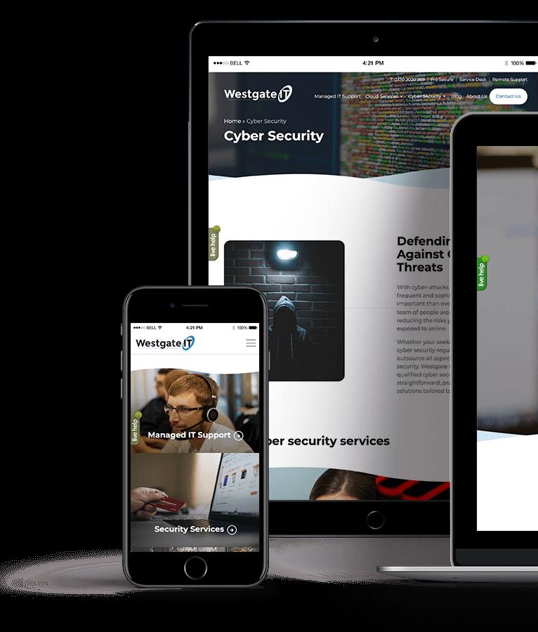 Westgate IT website design Bath