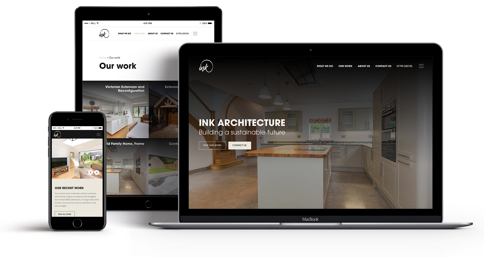 Ink Architecture - website design Frome