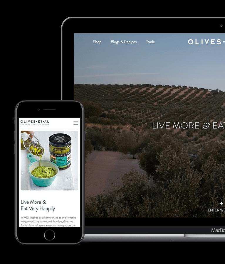 Olives Et Al WordPress website design