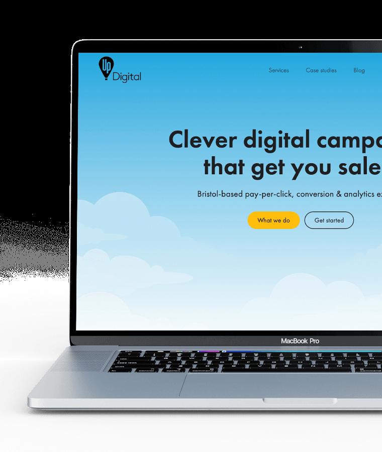 WordPress website for Up Digital