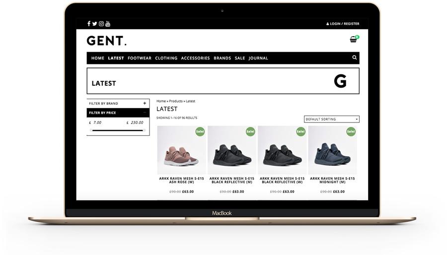 eCommerce - Gent Street