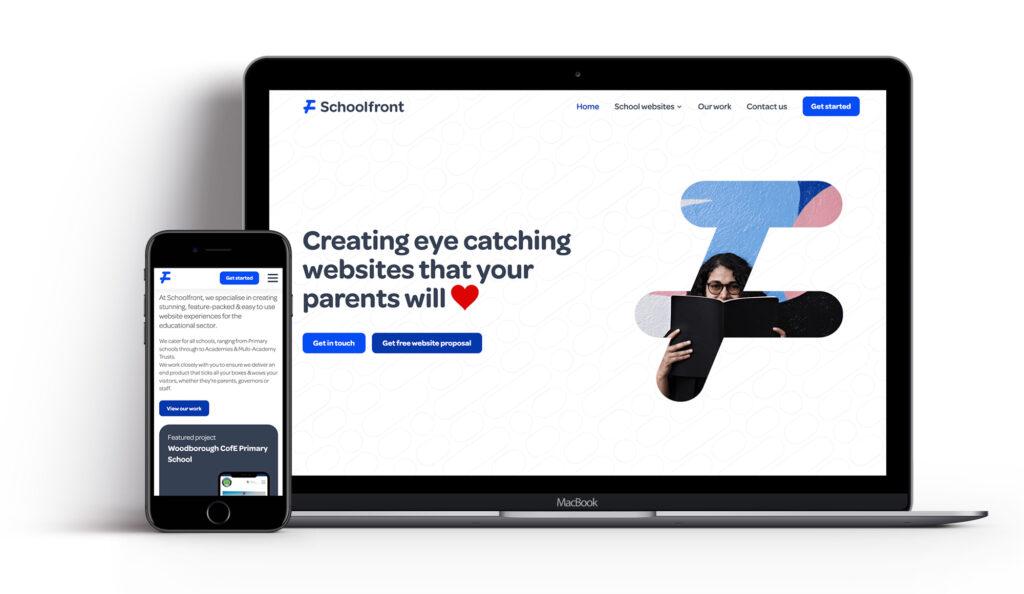 Schoolfront website design