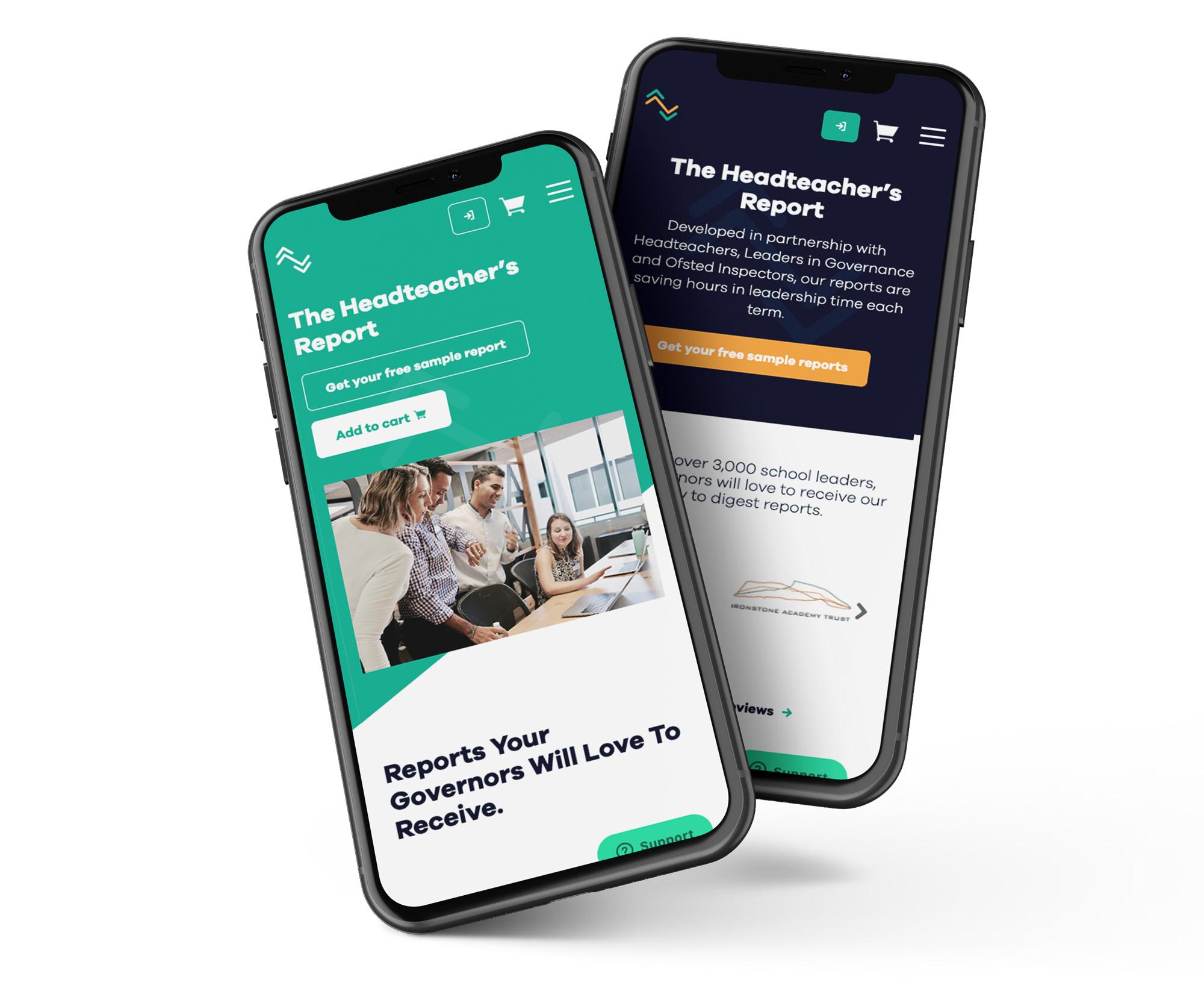The Headteacher's Report website design