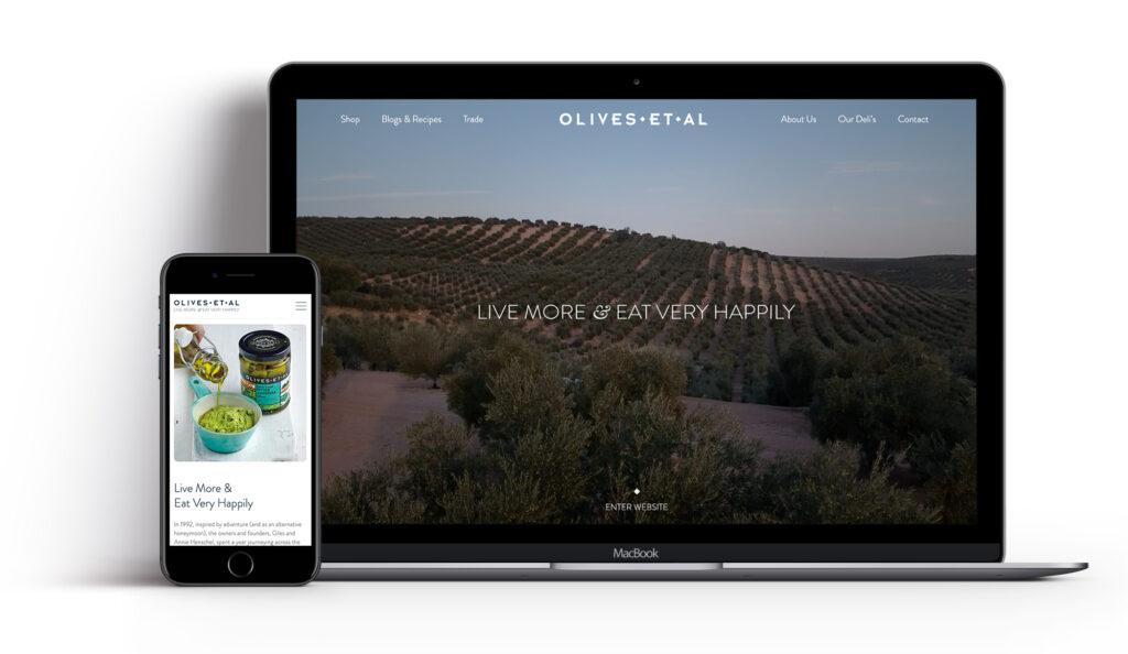 Olives Et Al website design