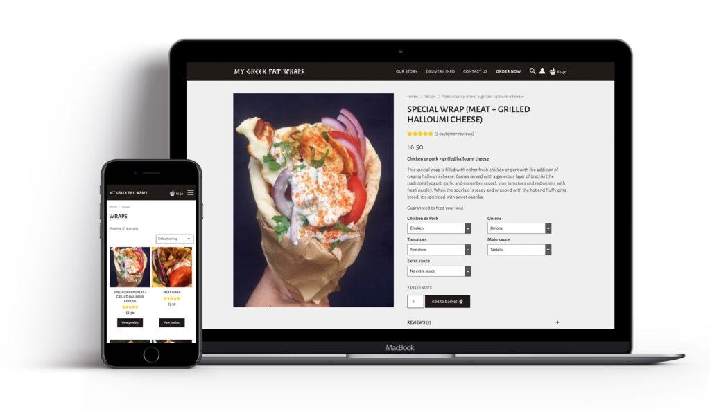 My Greek Fat Wraps - Website Design