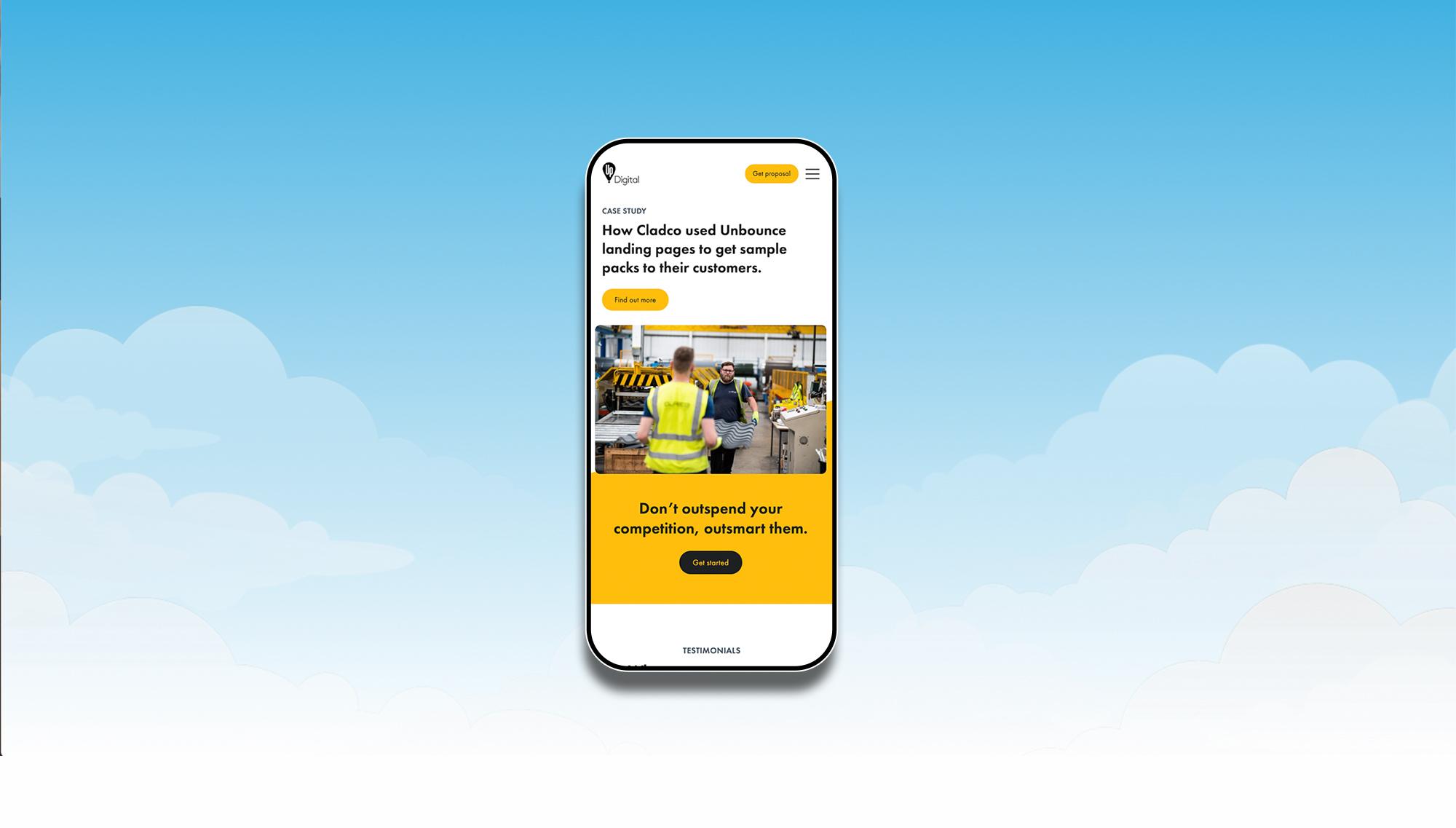 Up Digital mobile website