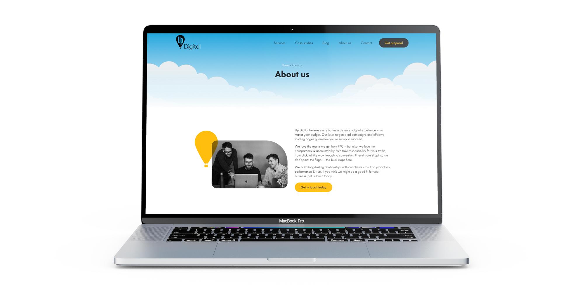 Up Digital - WordPress website