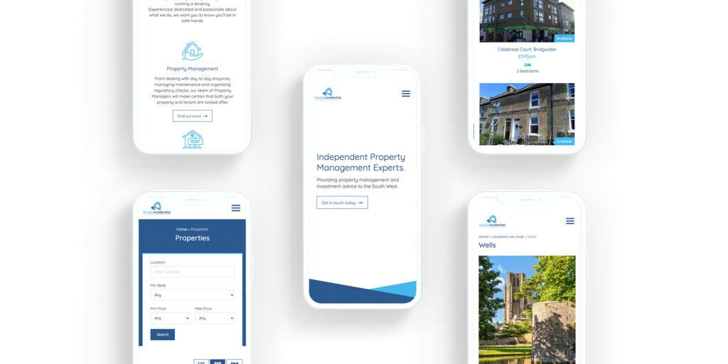 Stuarts Residential website design