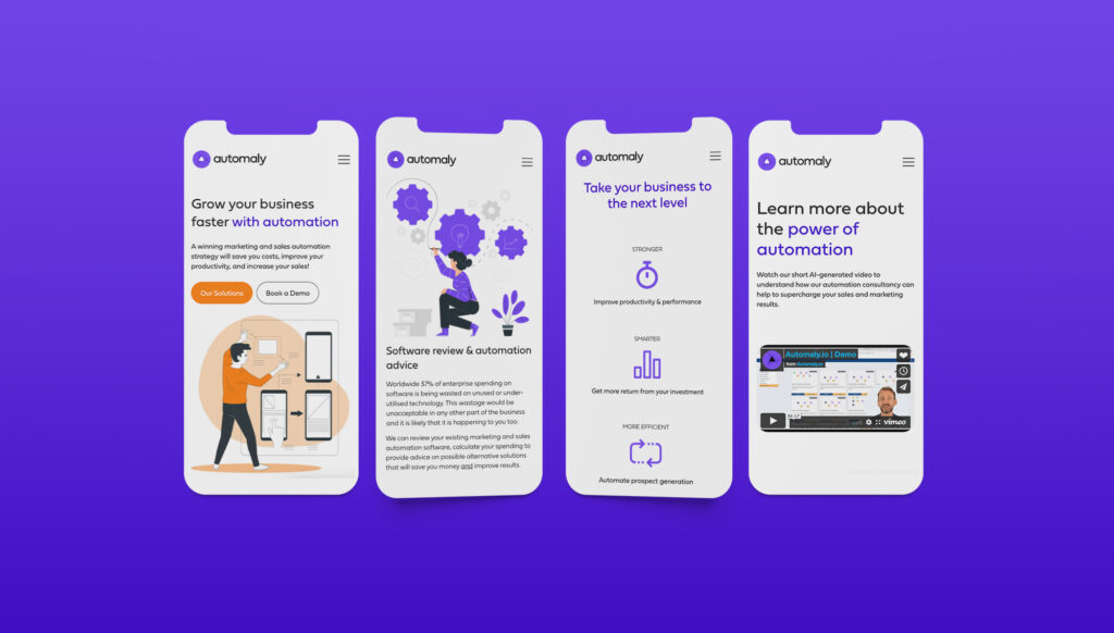 Automaly responsive website design
