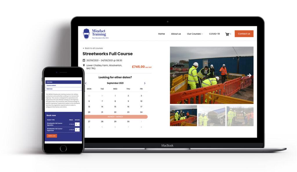 Mindset Training bookings website