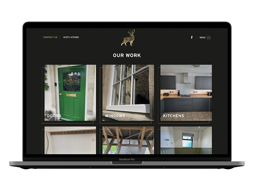 Monarch Joinery web design